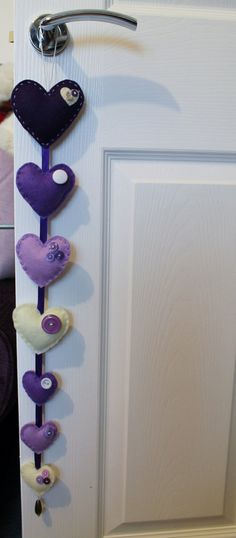 Hey, I found this really awesome Etsy listing at https://www.etsy.com/listing/182054297/felt-love-heart-door-hanging-garland