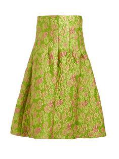 Isa Arfen Sculpted Floral-brocade Midi Skirt In Green Multi Isa Arfen, Blouse Designs, Tie Dye Skirt, Sculpting, Midi Skirt, Fitness Models, Feminine, Clothes For Women, Floral