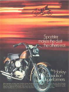 Harley-Davidson Advertisements on Magazines from 1970s