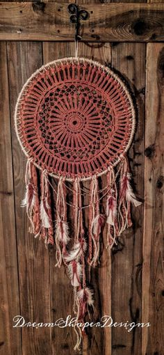 Red River Large Dreamcatcher by DreamShaperDesigns on Etsy