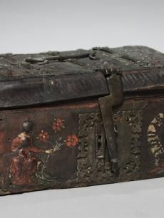 collection online - The Cleveland Museum of Art  Leather Casket with Scenes of Courtly Love