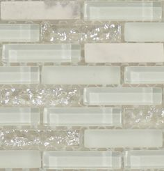 White glitter backsplash #opal #iridescent #pearl