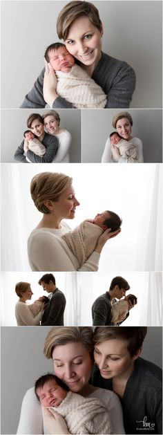 Two moms and newborn baby girl - Same sex couple with newborn Newborn Session, Sweet Girls, Baby Girl Newborn, Newborn Photographer, Dark Hair, Photography Ideas, Mom, Couples, Dark Teal Hair
