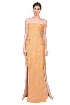 Fendi Strapless Sequin Peplum Formal Evening Gown Dress - 60% OFF