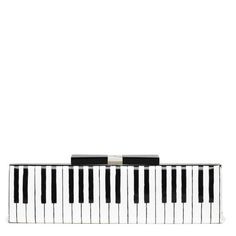 Recital Farrah by Kate Spade: B/W patent leather clutch. On sale $263 #Clutch #Kate_Spade #Piano_Keyboard