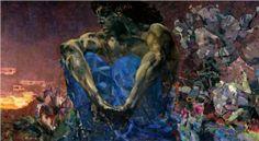 Seated Demon - Mikhail Vrubel, Russian (1857-1910), Symbolism