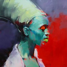 SOLD BY ECLECTICA MODERN - Bomvana by Peter Pharoah - original oil on canvas - available from Eclectica Modern in Claremont, Cape Town.