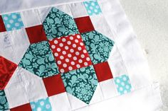 """This uses 4.5"""" and 2.5"""" inch pieces...would be great for charm squares."""