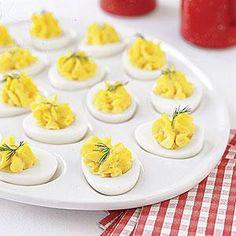 Declaration of Independence Deviled Eggs Recipe | MyRecipes.com