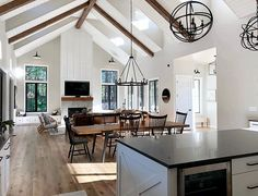 Build Your Own House, Farmhouse Interior, Home Renovation, Great Rooms, My Dream Home, Home And Living, Living Room, Planer, Beautiful Homes