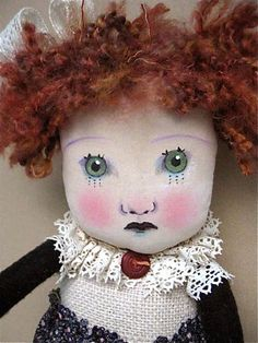 art doll ...redhead ....by sandy mastroni    original design and art copyright by Sandy Mastroni.........sold
