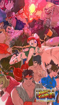 A Collection of Capcom and SNK Art and Music Games Street Fighter Street Fighter Alpha Street Fighter Alpha 2 Street Fighter Alpha 3 Street Fighter Alpha Anthology Street Fighter 2 Street Fighter Ultra Street Fighter 2, Street Fighter Video Game, Street Fighter Alpha 3, Street Fighter Characters, King Of Fighters, Geeks, Capcom Street Fighter, Fighting Games, Illustrations