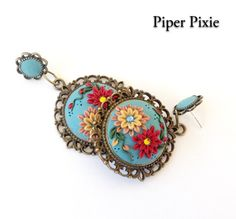 Hey, I found this really awesome Etsy listing at https://www.etsy.com/listing/153081544/polymer-clay-earrings-boho-jewelry-gypsy