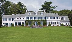A classical Colonial Revival house in Greenwich, Connecticut.