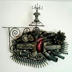 War heart. An assemblage based on the emotions of combat.