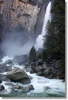Lower Yosemite Falls / 15-60 minutes / waterfall is twice as tall as the Empire State Building.  O.O