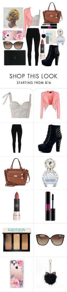 """""""Untitled #34"""" by luna-eris ❤ liked on Polyvore featuring Rosie Assoulin, Pinko, Chaps, Marc Jacobs, Lancôme, Bobbi Brown Cosmetics, Linda Farrow, Casetify, LC Lauren Conrad and Tucano"""
