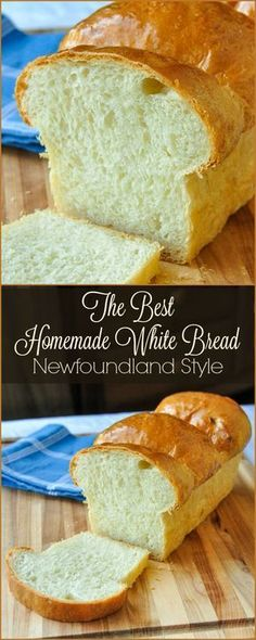 The Best Homemade White Bread - This Newfoundland recipe is well over 40 years old & turns put perfectly every time. Comfort food home baking at its best. bread recipe The Best Homemade White Bread - Rock Recipes Bread Machine Recipes, Easy Bread Recipes, Baking Recipes, Dessert Recipes, Pudding Recipes, White Bread Recipes, Quick Bread, Dinner Recipes, Vegan Recipes