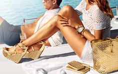 Michael Kors Spring 2014.....Gold accesories