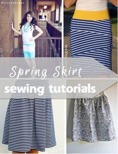 Spring Skirt Tutorials - so cute!