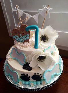 Dog Lovers themed Happy Birthday Cake