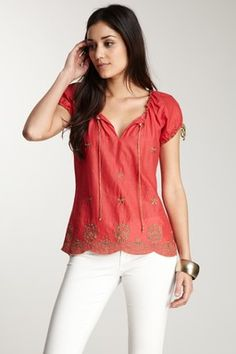 Cute coral tunic from Haute Look