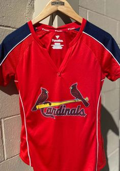 St Louis Cardinals Womens Diva Fashion Baseball Jersey - Red - 17281870 Diva Fashion, Red Fashion, Womens Fashion, St Louis Cardinals, Baseball Jerseys, Team Names, Jersey Shirt, Lady In Red, Red And Blue