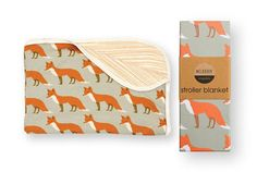 Orange Stripe Stroller Blanket