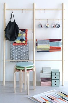 LO-OVE that ladder contraption for the studio!  Seen on Cheerful BRAKIG Collection from IKEA
