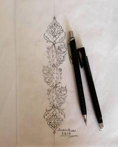 🌸🍃#tezhip #desen #design #tasarim #gelenekselsanatlar #art #sanat Islamic Calligraphy, Calligraphy Art, Pattern Drawing, Pattern Art, Pattern Design, Motif Floral, Floral Design, Design Design, Painting Techniques Canvas