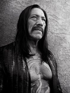 Danny Trejo by Bryan Adams. yes, that Bryan Adams! Celebrity Photography, Celebrity Portraits, White Photography, Bryan Adams Photography, Zoo Magazine, Rock Tattoo, Danny Trejo, Photo Star, Actrices Hollywood