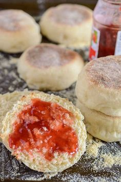 HOMEMADE ENGLISH MUFFINS:Homemade English muffins are so much easier than you think! This recipe is simple and will give you soft, chewy muffins in no time. Enjoy them with butter or your favorite jam!