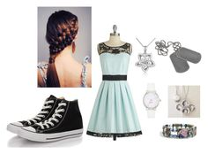 """""""simple party"""" by fangirlingisnormal ❤ liked on Polyvore featuring BB Dakota, Converse, MaBelle and Kate Spade"""