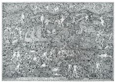 The highly detailed works of Johann Garber of Gugging, in RV 5. http://rawvision.com/shop/rv-5