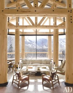 An Aspen, Colorado, great room by Atelier AM