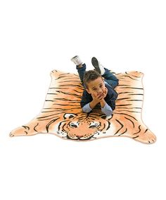 Take a look at this Brown Tiger Kids' Rug on zulily today!