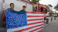 #FlagForHope #HandImpressions #Firefighters #Hero