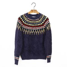 Indie Designs Totem Embroid Mohair Sweater