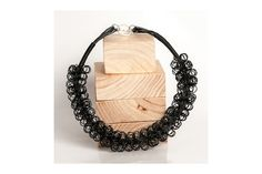 Ring Ring Bling Spiral necklace black by Blossom Handmade