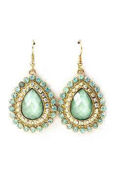 Iridescent Mint Teardrop Earrings | Emma Stine Limited