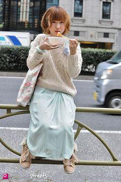 RUI YAMANE Shibuya, Tokyo AUTUMN 2013, GIRLS Kjeld Duits STUDENT, 19  Sweater – INGNI Dress – N/A Shoes – N/A