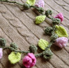 crocheted necklace. Gorgeous.