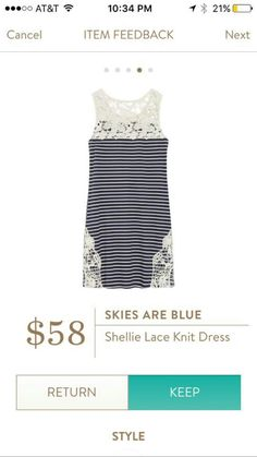 Stitch Fix Skies are Blue Shellie Lace Knit Dress