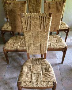 Set of 6 chairs, Audoux-Minnet