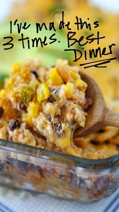 Mexican chicken and rice is a super simple recipe that your family will love! Grab the super simple recipe that uses the perfect blend of Mexican spices, chicken, cheese and rice to create the perfect, hearty, weeknight meal! Mexican Chicken And Rice, Cheesy Mexican Rice, Chicken Cheese And Rice Recipe, Hamburger And Rice Recipes, Chicken And Rice Dishes, Mexican Cheese, Chicken Rice, Cooking Recipes, Healthy Recipes