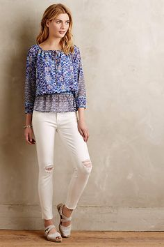 Mother Looker Ankle Fray Jeans - #anthrofave