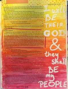 Bible Journaling, Jeremiah 31:31-34 — Arden Ratcliff-Mann #illustratedfaith