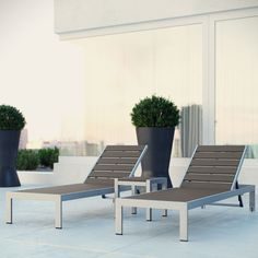 Found it at AllModern - Shore 3 Piece Chaise Lounge Set