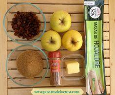 Ingredientes empanada de manzana. Apple pie ingredients.