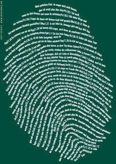 Alle Menschen sind einzigartig. Ein Fingerabdruck Gottes.